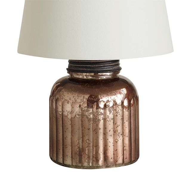 Cost Plus World Market Mercury Glass Canister Accent Lamp Base