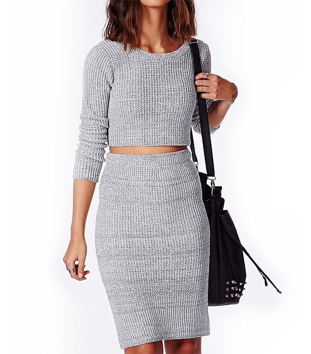 Missguided Casey Knit Scoop Neck Crop Top