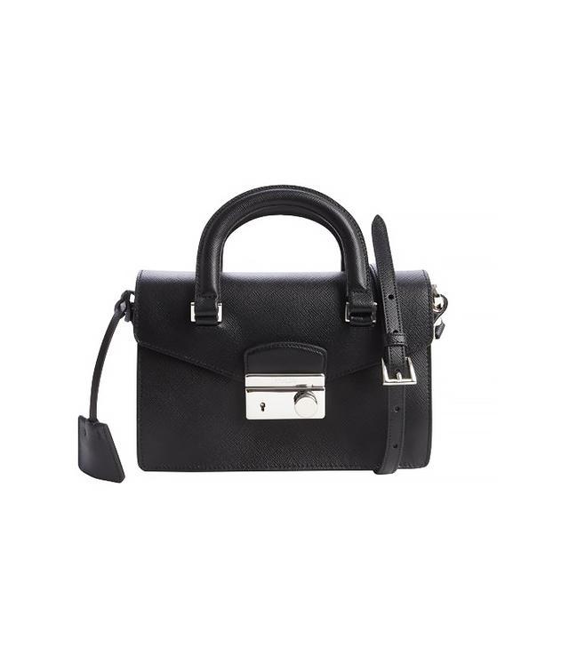 Prada Black Saffiano Leather Mini Shoulder Bag