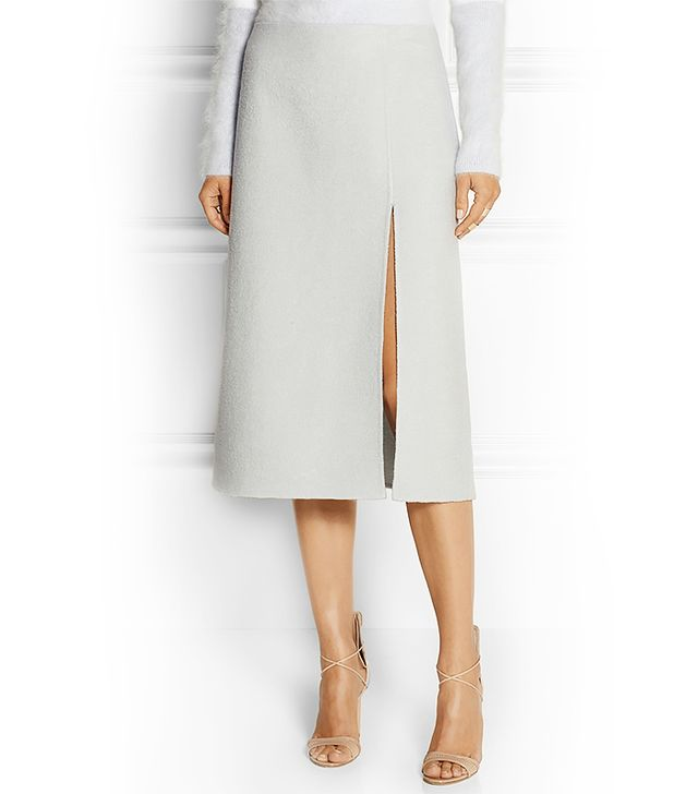 Marc Jacobs Brushed Wool-Blend Midi Skirt