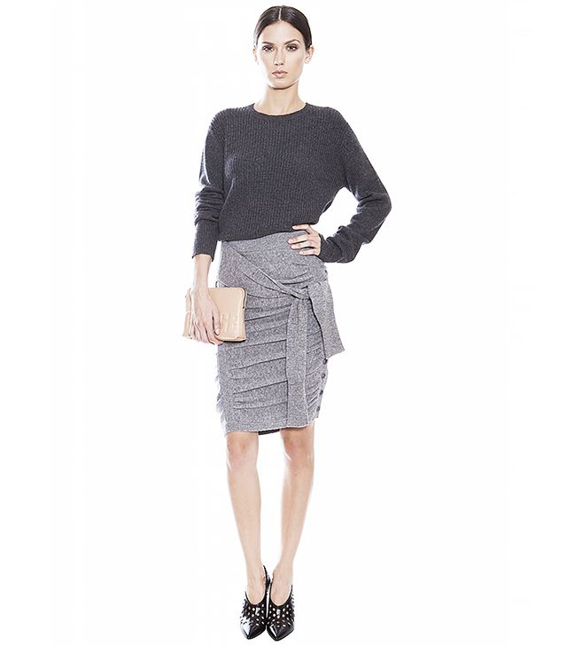Band of Outsiders Ruched Miniskirt