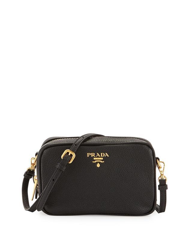 Prada Vitello Mini Zip Crossbody Bag