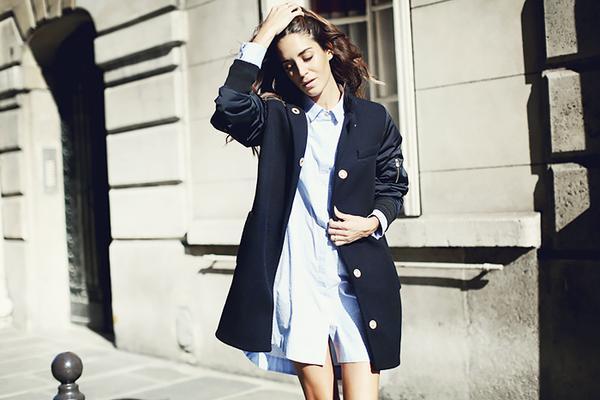 Oversized Coat + Shirtdress + Dainty Rings