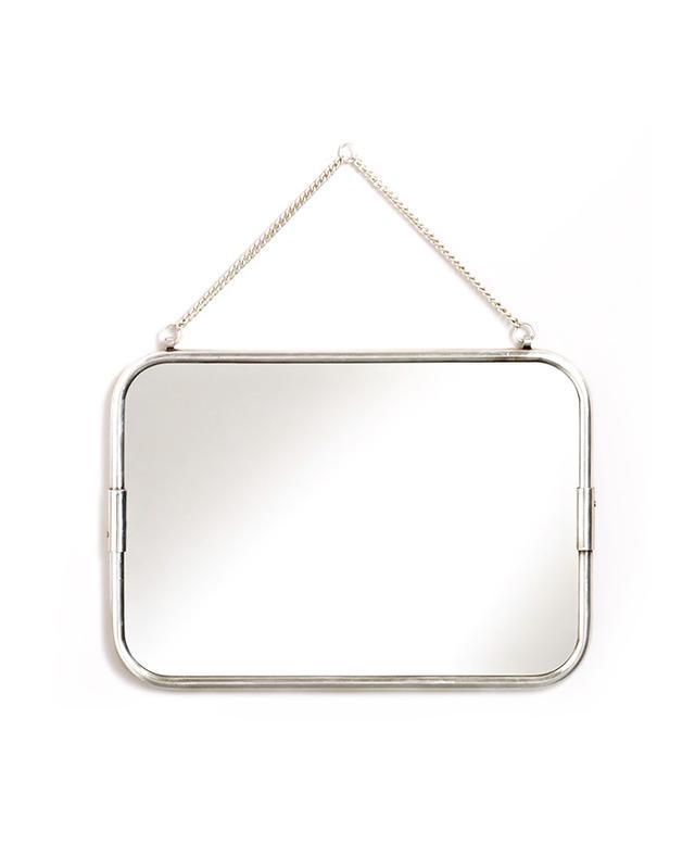 World Market Matte Silver Hanging Mirror