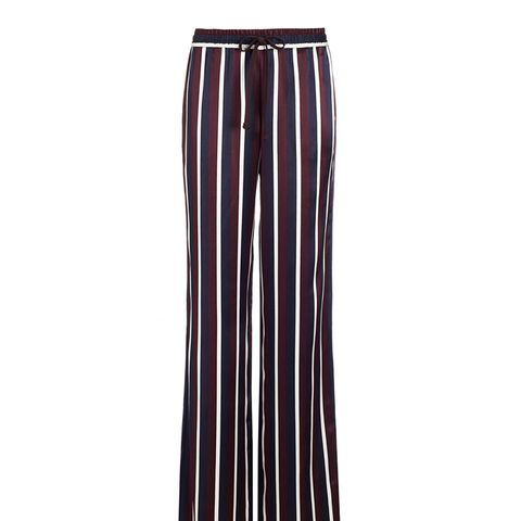 College Striped Satin Pants