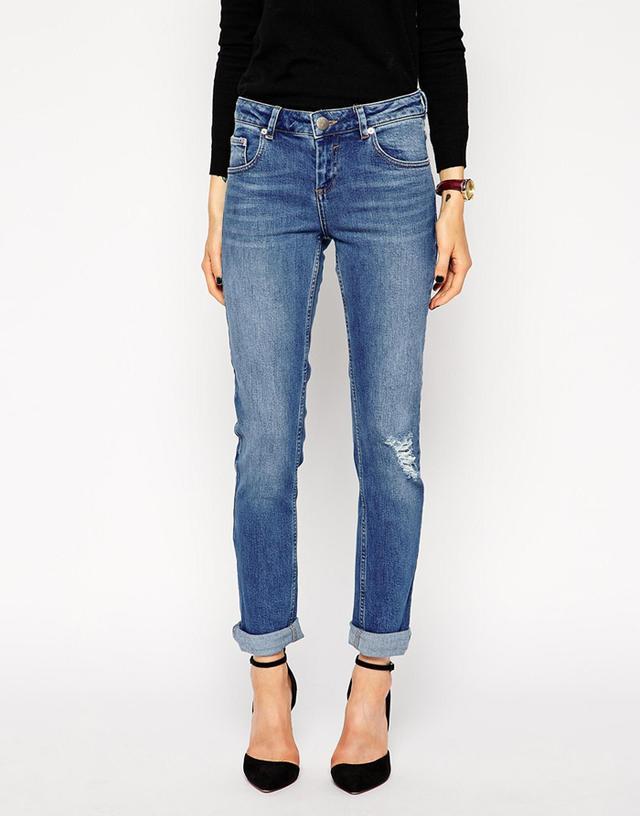 ASOS Supersoft Shrunken Boyfriend Jeans