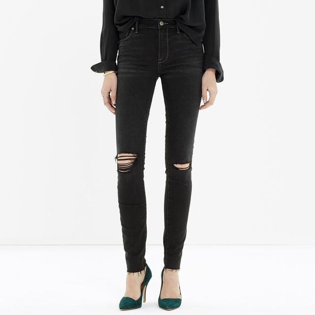 Madewell High Riser Skinny Skinny Cut-Edge Jeans