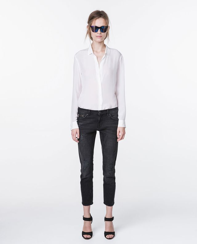 Zara Relaxed-Fit Medium-Rise Jeans