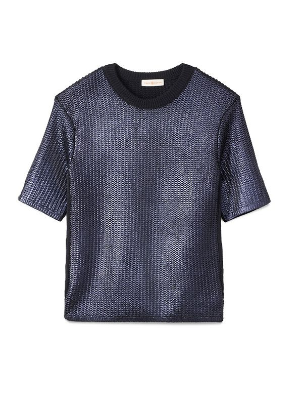 Tory Burch Dominique Metallic Knit Sweater