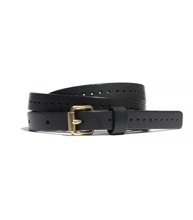 Madewell Skinny Punch Dot Belt