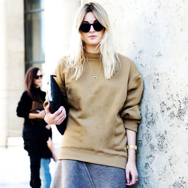 Tip of the Day: Add Polish to a Simple Sweatshirt