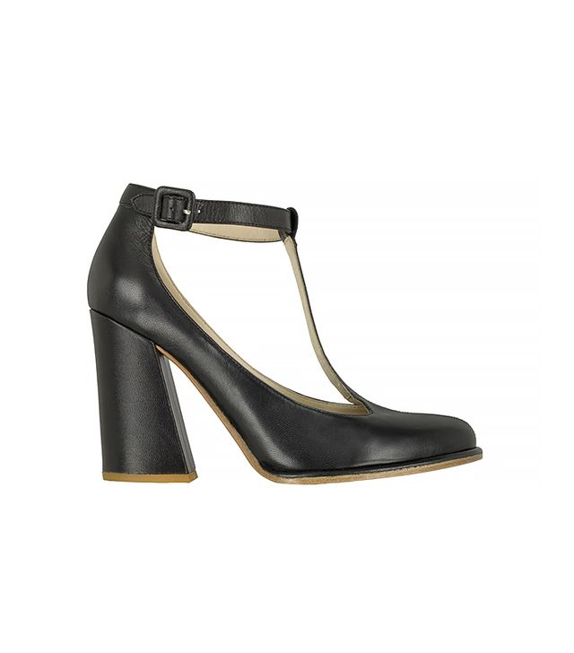 SEE BY CHLOÉ Black Leather T-bar Pump