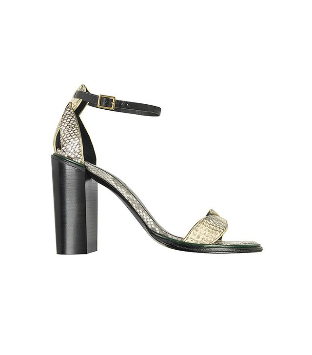 SEE BY CHLOÉ Animal Print Leather High Heeel Sandal