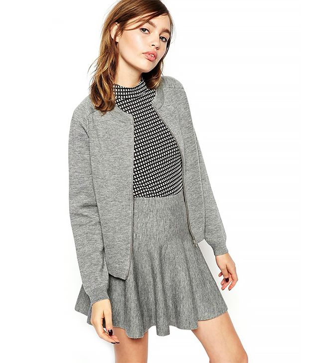 ASOS Co-ord Bomber Cardigan In Structured Knit