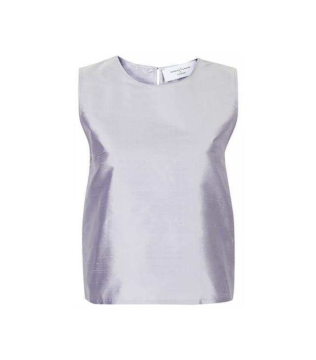 Marques'Almeida X Topshop Silk Taffeta Vest Top