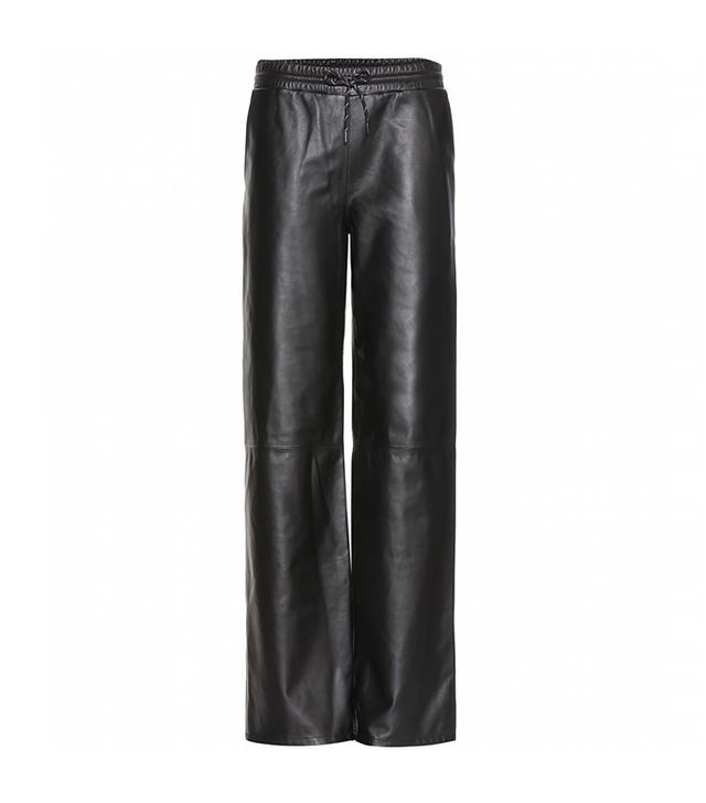 T By Alexander Wang Wide Leather Trouser