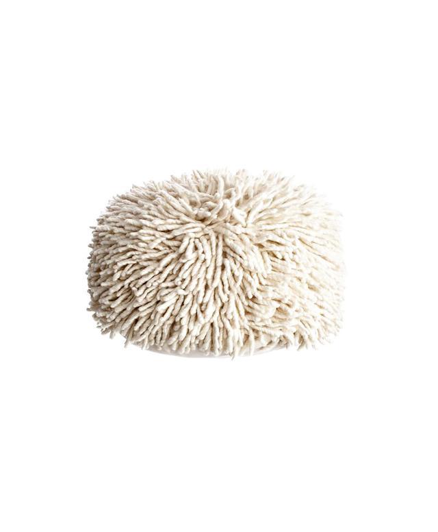 Calypso St. Barth Wool Shag Pouf