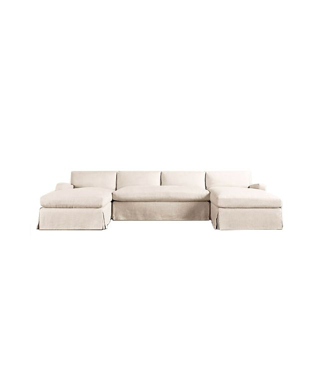 Restoration Hardware Belgian Slope Arm Slipcovered Sectional