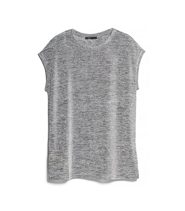 Mango Vent Metallic T Shirt