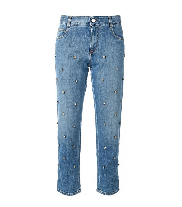 Stella McCartney Embellished Cropped Jeans