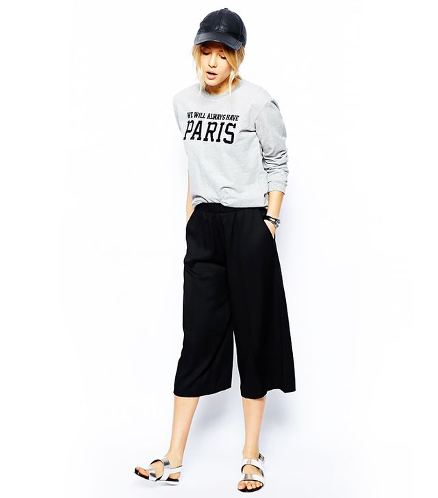 ASOS Straight Culotte Pants
