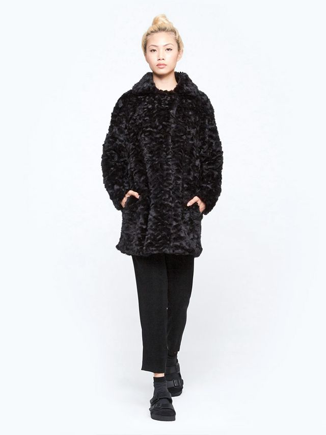 Vanessa Bruno Athé Buddy Fur Effect Coat