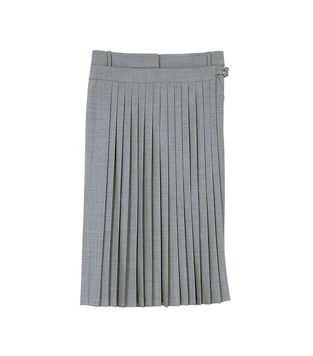 Tibi Tropical Wool Pleated Wrap Culottes