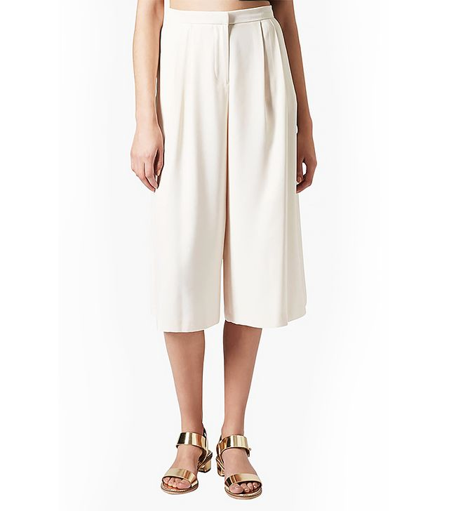 Topshop Pleated Crepe Culottes