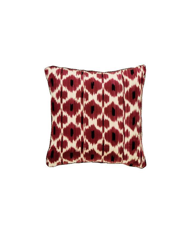 Madeline Weinrib Raspberry Daphne Ikat Pillow
