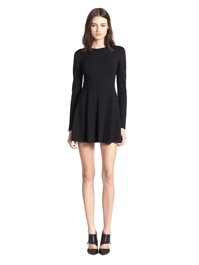 Theory Tillora Long Sleeve Fit & Flare Dress