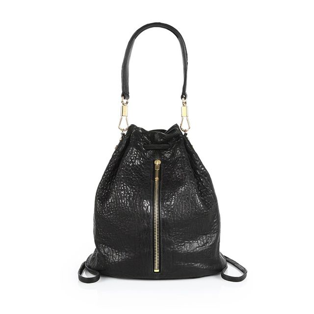 Elizabeth and James Textured Leather Sling Backpack