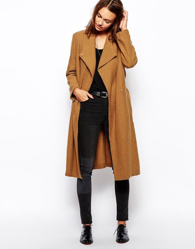 Maison Scotch Belted Coat in Wool