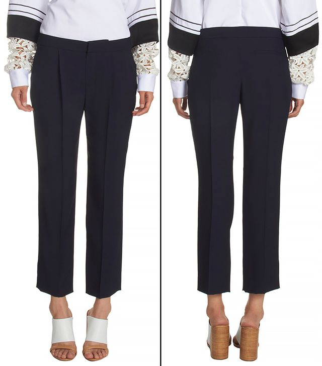 Chloé Pleated Slim Cropped Trousers