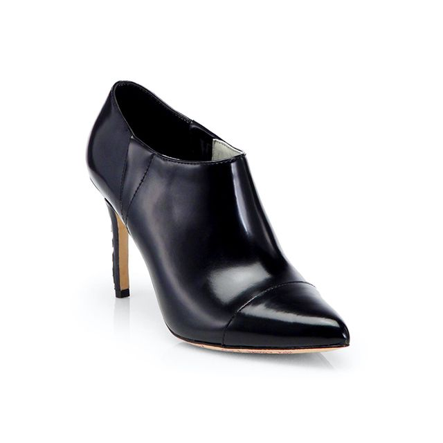 Alice + Olivia Dex Box Leather Ankle Boot