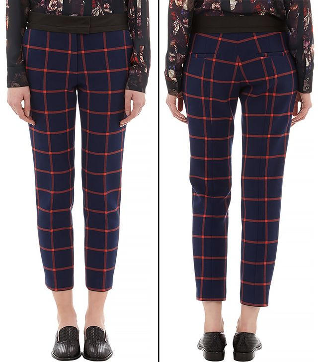 Thakoon Addition Windowpane Check Cropped Trousers