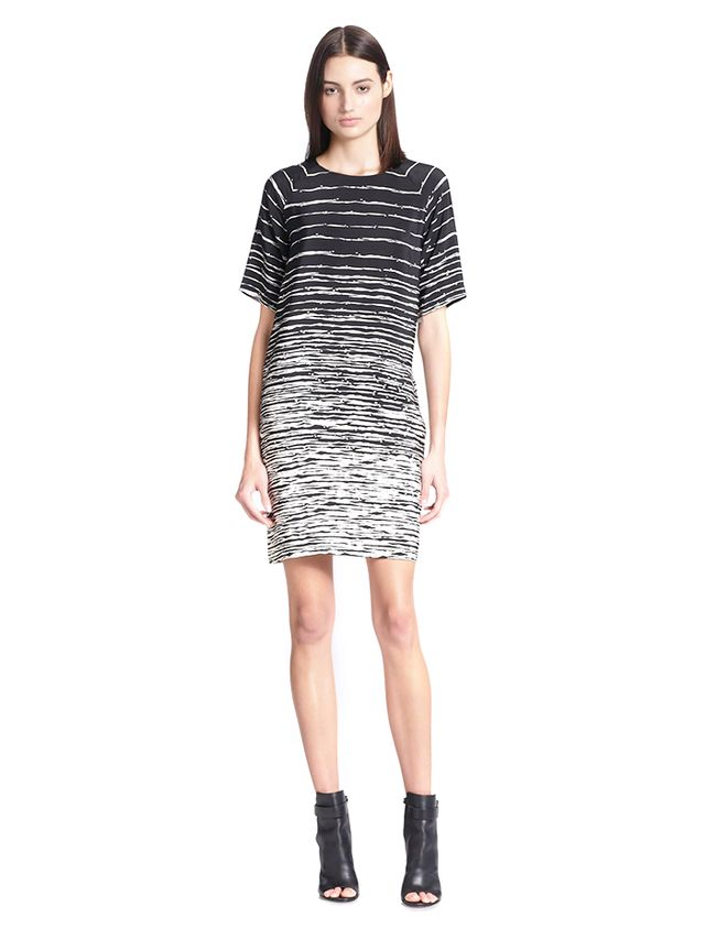 Vince Striped Silk Dress