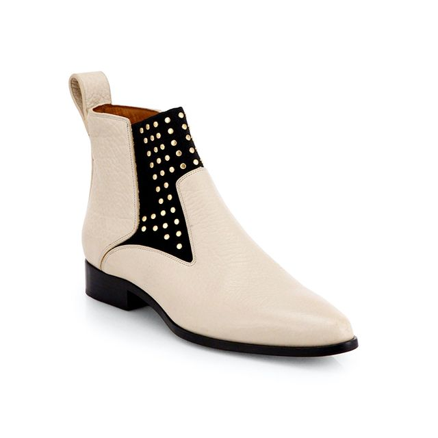 Chloe Studded Leather Ankle Boots