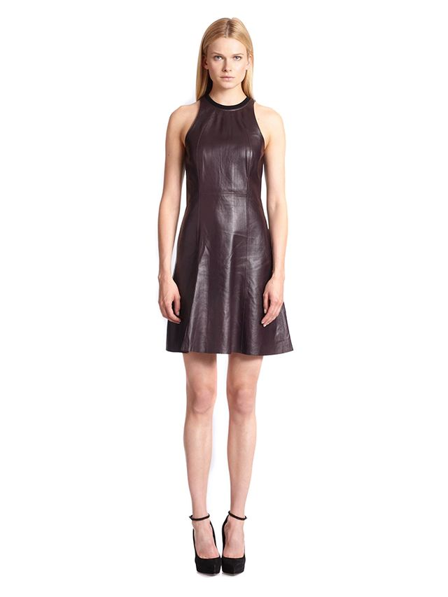10 Crosby Derek Lam Leather Dress