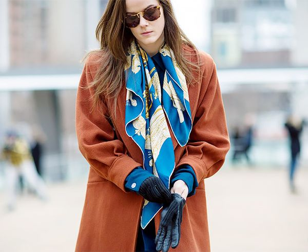 Style Tip: For an unstudied feel, wrap your scarf once around the neck and leave it untied.