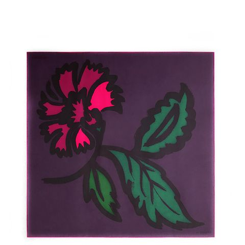 Floral-Print Silk Square