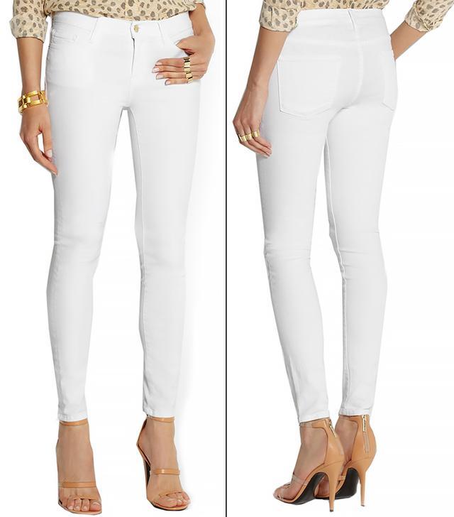 Frame Denim Le Color Mid-Rise Skinny Jeans
