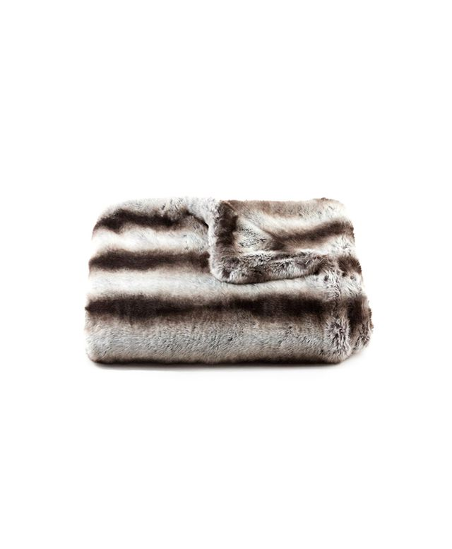 Scenario Home Chinchilla Faux Fur Throw