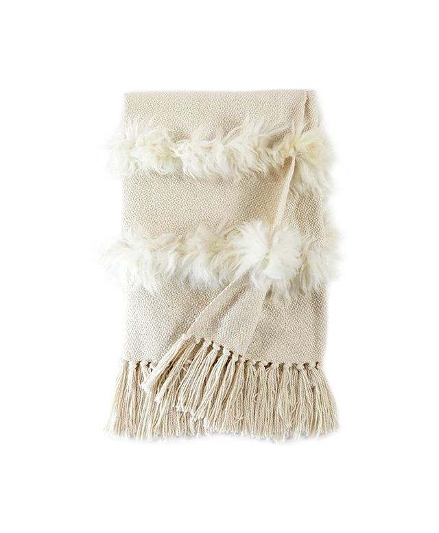 Homelosophy Sheepskin Throw Blanket