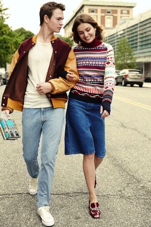 Andreea Diaconu And Ansel Elgort Go Ivy League Cool For Vogue
