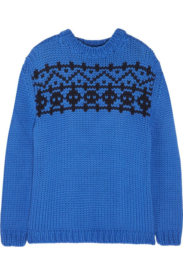 Miu Miu Intarsia wool sweater
