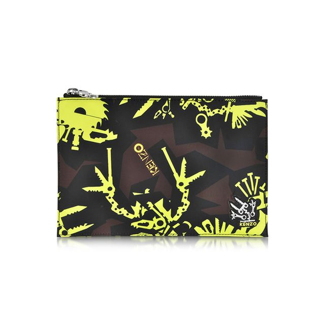 Kenzo Multicolor Monster Nylon Pouch