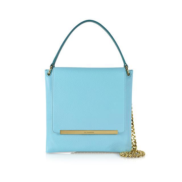 Jil Sander Double Square Leather Shoulder Bag