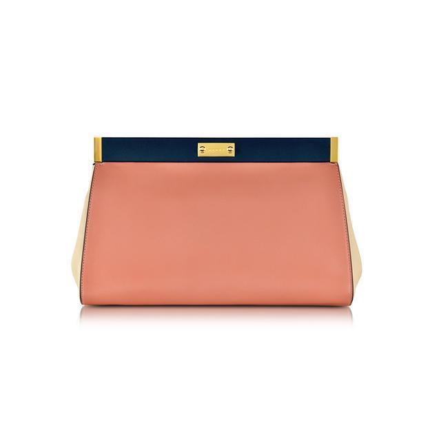 Marni Apricot Leather Pochette