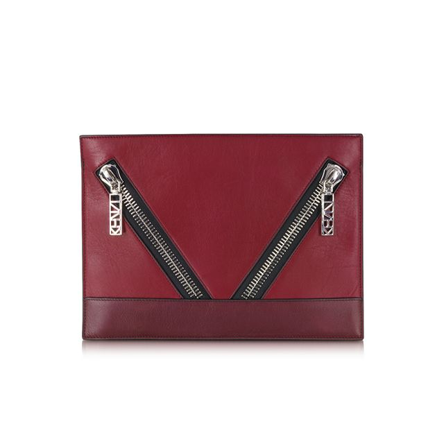Kenzo Kalifornia Color Block Leather Pouch