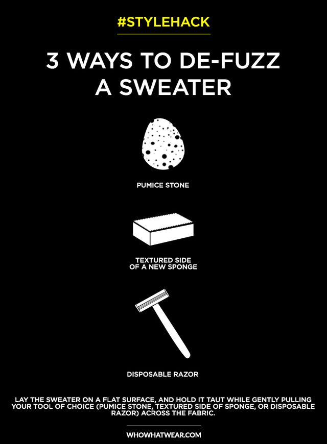 Stylehack 3 smart ways to de fuzz sweaters whowhatwear - How to remove lint ...